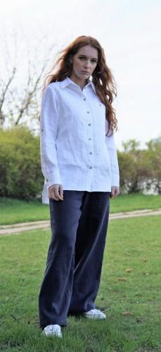 Klasikiniai lininiai marškiniai